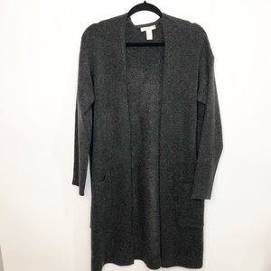Forever 21 Midi Cardigan Gray with pockets